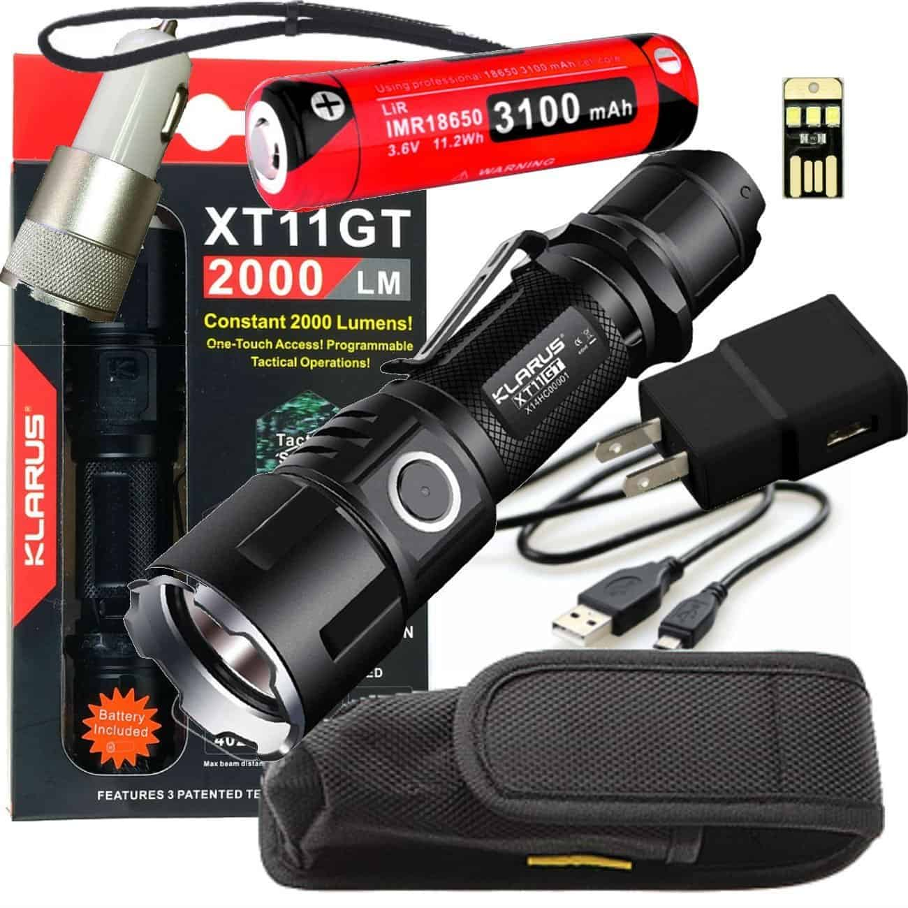 Klarus XT11GT - best 18650 flashlight