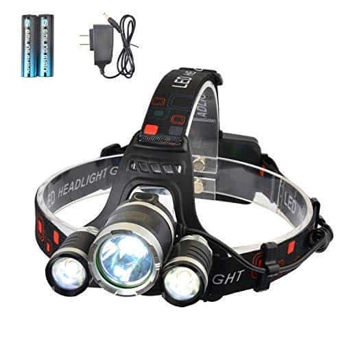 Aluminum Superbright LED Headtorch Tactical Push Switch Headlight Strobe Lamp